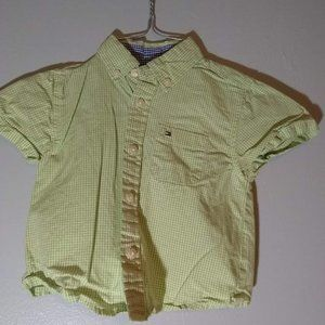 Tommy Hilfiger Green button down